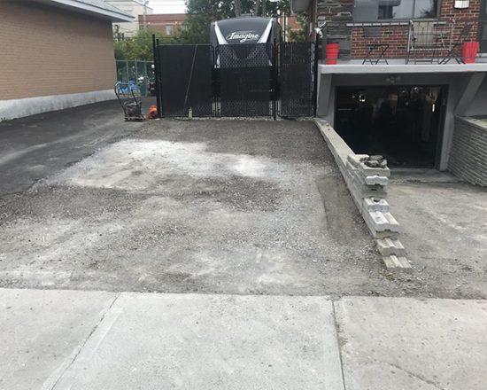 resurfaçage d'asphalte